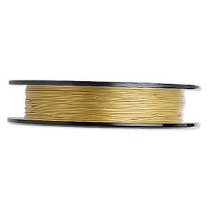 beading wire, tigertail™, nylon-coated stainless steel, gold, 3 strand, 0.012-inch diameter. sold per 100-foot spool.
