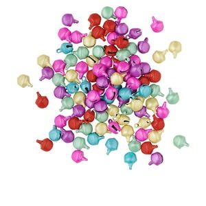 bell mix, steel, pastel colors, 6mm. sold per pkg of 100.