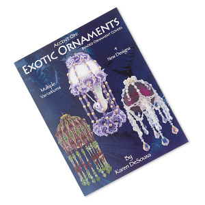 book, accent on: exotic ornaments by karen desousa. sold individually.