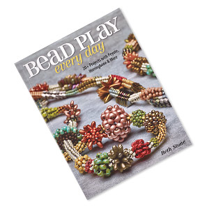 book, bead play every day: 20+ projects with peyote, herringbone and more by beth stone. sold individually.