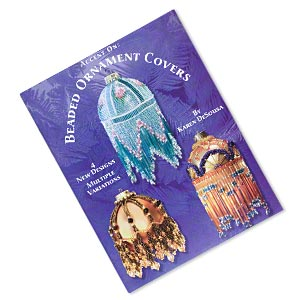 book, beaded ornament covers by karen desousa. sold individually.