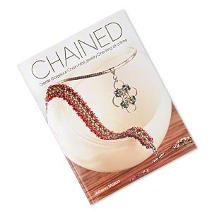 book, chained: create gorgeous chain mail jewelry one ring at a time by rebeca mojica. sold individually.