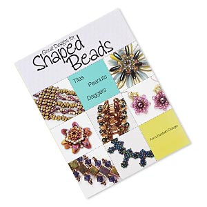 book, great designs for shaped beads: tilas, peanuts,  daggers by anna elizabeth draeger. sold individually.