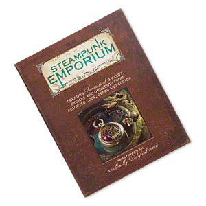 book, steampunk emporium: creating fantastical jewelry, devices and oddments from assorted cogs, gears and curios by jema emilly ladybird hewitt. sold individually.