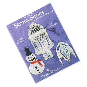 book, the strata series beaded ornament covers #4 by karen desousa. sold individually.