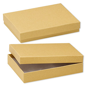 box, kraft paper, cotton-filled, 5-1/4 x 3-3/4 x 1-inch rectangle. sold per pkg of 100.