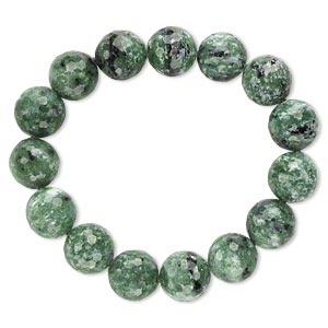 bracelet, stretch, ruby in zoisite (natural), 13-14mm faceted round, 7 inches. sold individually.