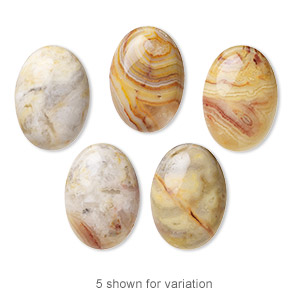 cabochon, crazy lace agate (natural), 25x18mm calibrated oval, b grade, mohs hardness 6-1/2 to 7. sold individually.