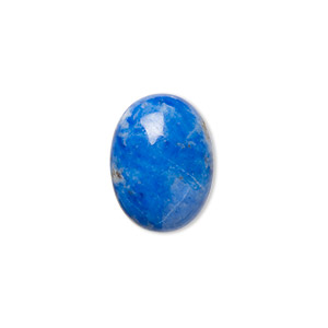 cabochon, denim lapis (natural), 16x12mm calibrated oval, c grade, mohs hardness 5 to 6. sold per pkg of 2.