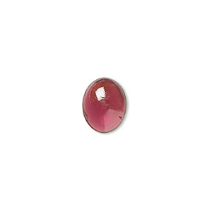 cabochon, garnet (natural), 10x8mm hand-cut calibrated oval, b grade, mohs hardness 7 to 7-1/2. sold per pkg of 2.