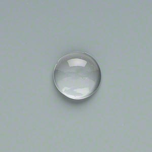 cabochon, glass, clear, 14mm non-calibrated round. sold per pkg of 10.