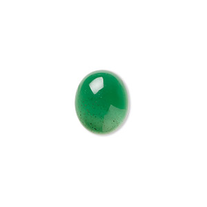 cabochon, green agate (dyed), 12x10mm calibrated oval, b grade, mohs hardness 6-1/2 to 7. sold per pkg of 4.