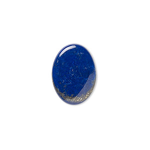 cabochon, lapis lazuli (natural), 18x13mm calibrated oval, b grade, mohs hardness 5 to 6. sold per pkg of 2.