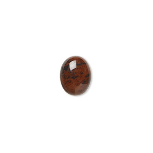 cabochon, mahogany obsidian (natural), 10x8mm calibrated oval, b grade, mohs hardness 5 to 5-1/2. sold per pkg of 10.