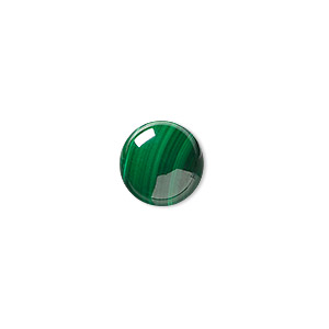cabochon, malachite (natural), 12mm calibrated round, b grade, mohs hardness 3-1/2 to 4. sold individually.