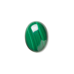cabochon, malachite (natural), 16x12mm calibrated oval, b grade, mohs hardness 3-1/2 to 4. sold individually.