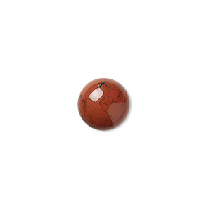 cabochon, red jasper (natural), 12mm calibrated round, b grade, mohs hardness 6-1/2 to 7. sold per pkg of 6.