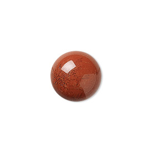 cabochon, red jasper (natural), 16mm calibrated round, b grade, mohs hardness 6-1/2 to 7. sold per pkg of 4.