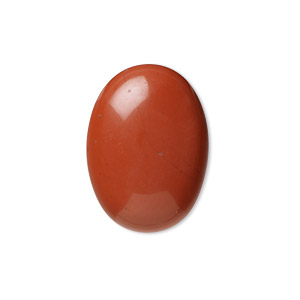 cabochon, red jasper (natural), 25x18mm calibrated oval, b grade, mohs hardness 6-1/2 to 7. sold per pkg of 2.