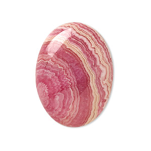 cabochon, rhodochrosite (natural), 30x22mm calibrated oval, b grade, mohs hardness 3-1/2 to 4-1/2. sold individually.