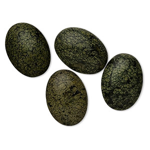 cabochon, russian serpentine (natural), 18x13mm calibrated oval, b grade, mohs hardness 2-1/2 to 5. sold per pkg of 4.