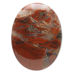 cabochon, spotted chalcedony (natural), 40x30mm calibrated oval, b grade, mohs hardness 6-1/2 to 7. sold individually.