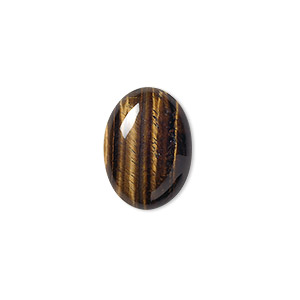 cabochon, tigereye (natural), 18x13mm calibrated oval, b grade, mohs hardness 7. sold per pkg of 2.