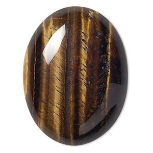cabochon, tigereye (natural), 40x30mm calibrated oval, b grade, mohs hardness 7. sold individually.