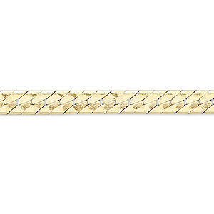 chain, 14kt gold-filled, 2mm herringbone, 16 inches with springring clasp. sold individually.