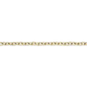 chain, brass-plated steel, 2.2mm cable. sold per 50-foot spool.