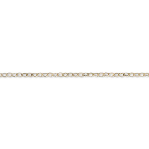 chain, gossamer™, 14kt gold-filled, 1.2mm flat cable. sold per pkg of 5 feet.