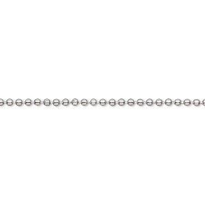 chain, stainless steel, 1.5mm ball. sold per pkg of 5 feet.