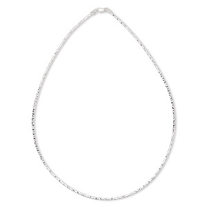 chain, sterling silver, 1.4mm diamond-cut omega, 16 inches with lobster claw clasp. sold individually.
