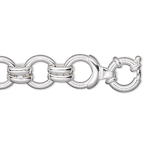 chain, sterling silver, 16mm round, 7 inches. sold individually.