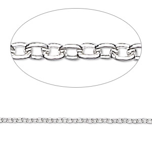 chain, sterling silver, 1.7mm cable, 24 inches. sold individually.