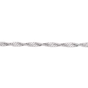 chain, sterling silver, 2.3mm twisted singapore, 36 inches. sold individually.