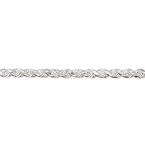 chain, sterling silver, 2.75mm french rope, 36 inches. sold individually.