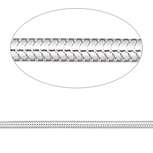 chain, sterling silver, 2mm snake, 30 inches. sold individually.