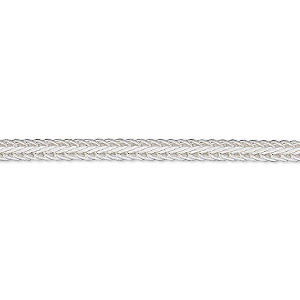 chain, sterling silver, 3mm hammered foxtail, 36 inches. sold individually.