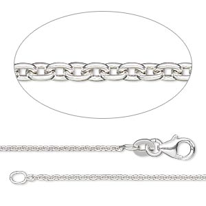 chain, sterling silver-filled, 1.4mm cable, 20 inches with lobster claw clasp. sold individually.