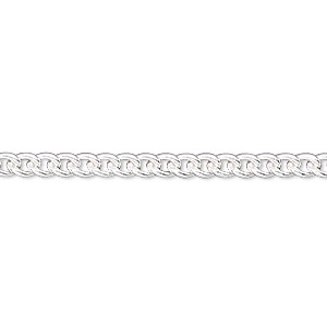 chain, sterling silver-filled, 3.5mm curb. sold per pkg of 5 feet.