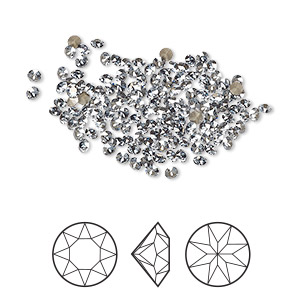 chaton, swarovski crystal rhinestone, crystal passions, crystal blue shade, foil back, 2-2.1mm xirius round (1088), pp14. sold per pkg of 144 (1 gross).