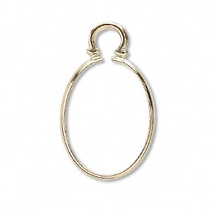 cinch mount, 14kt gold, 18x13mm oval. sold individually.