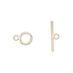 clasp, jbb findings, toggle, 12kt gold-filled, 7.5mm round. sold individually.