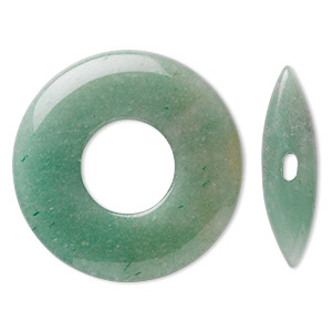 clasp, toggle, green aventurine (natural), 45x6mm round donut, 38x10mm bar, b grade, mohs hardness 7. sold individually.