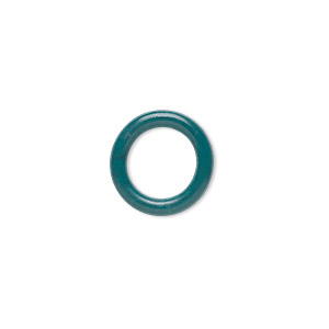component, oh! ring™, rubber, light green, 12mm round with 8mm hole. sold per pkg of 200.