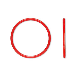 component, oh! ring™, silicone, red, 25mm round with 22mm hole. sold per pkg of 50.