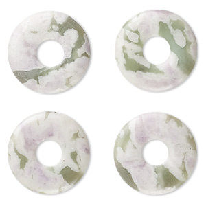 component, peace jade (natural), 20mm round donut, b grade, mohs hardness 6 to 6-1/2. sold per pkg of 4.