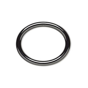 component, zirconia ceramic, black, 27x22mm open oval with 21.5x16.5mm center hole. sold individually.