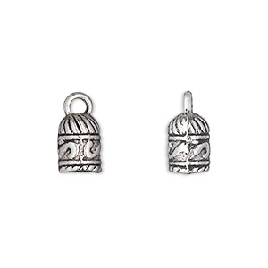 cord end, glue-in, antique silver-plated pewter (zinc-based alloy), 10x7mm barrel, 5mm inside diameter. sold per pkg of 500.